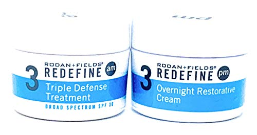 Rodan + Fields Redefine Triple Defense AM & Overnight Restorative Cream Bundle (Rodan And Fields Redefine Hand Treatment Reviews)