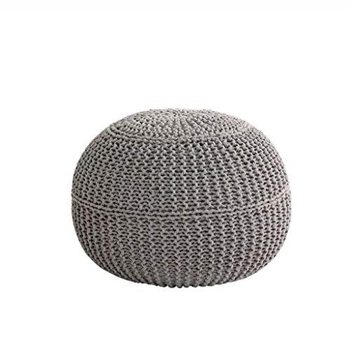 ZLL-Diseño 100% del Amortiguador de algodón Tejidas a Mano Acolchada Puf Puf tapizado de otomana Banco de Zapatos Ronda...