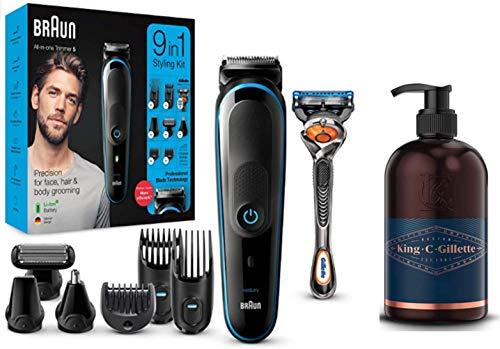 🥇 Braun MGK5280 9 en 1 – Máquina recortadora de barba