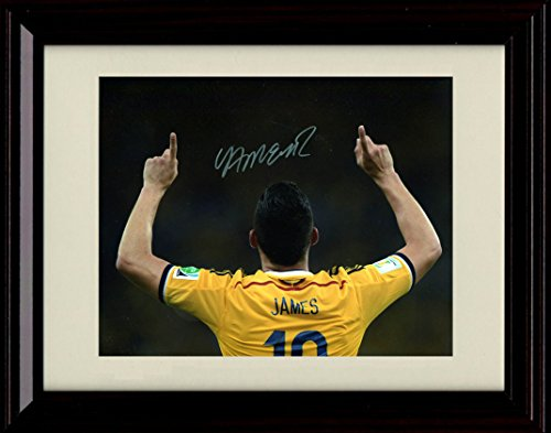 Framed James Rodriguez Autograph Replica Print - Team Colombia - World Cup