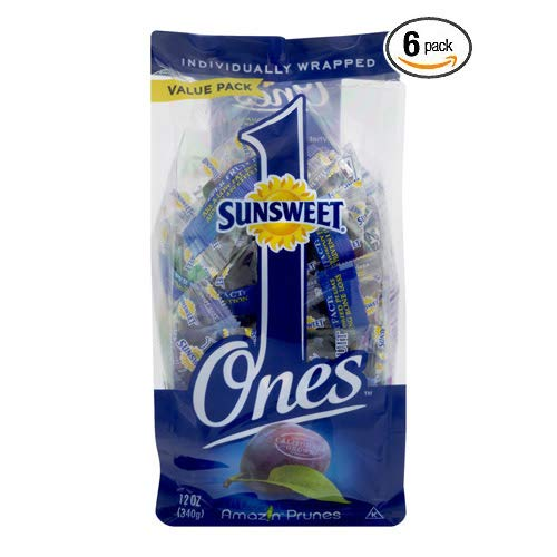Sunsweet Individual Pitted Prunes Value Pack, 12 oz- Pack of 6 by Sunsweet