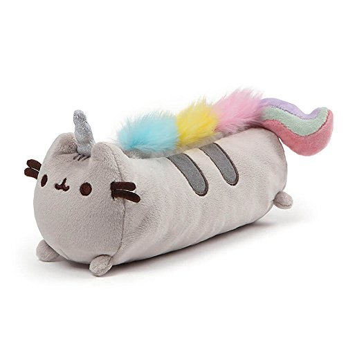 (GUND Pusheenicorn Pusheen Unicorn Cat Plush Stuffed Animal Accessory Pencil Case, Gray, 8.5