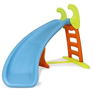 FEBER – Slide Curve con agua, tobogán Curvo equipado con conexión de agua, colores luminosos, escaleras antideslizantes, resistente y seguro para los pequeños a partir de 3 años, FAMOSA (800008359)