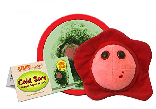 GIANTmicrobes Cold Sore (Herpes simplex virus-1) Plush Toy