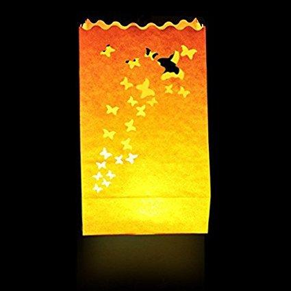 FAROLILLOS VOLADORES. Pack de 10 bolsas de luz (luminosas)-Candle Bags.