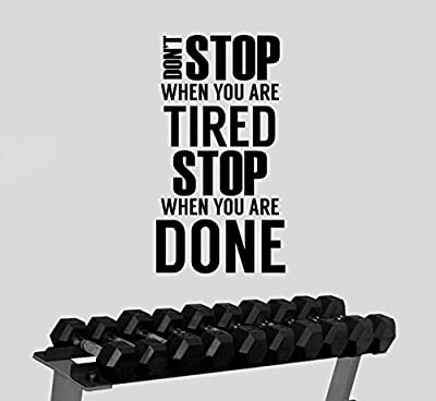 Inspirational Quote Wall Sticker Vinyl Decal Gym Motivational Art Decorations for Home Sports Room Fitness Training Center Studio Decor fgm9