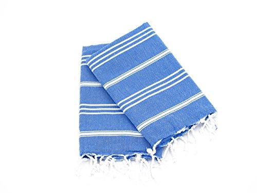 Cottoncloudco Set of 2 Turkish Towel Hand,Head,Kitchen Towel,Tea Towel,Dish towel,Flour Sack Towels,Dish Cloth,cotton kitchen towel,dish towel set,cotton tea towel,Royal Blue,36