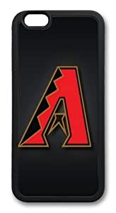 iPhone 6 Plus Case And Cover -Arizona Diamondbacks TPU Silicone Rubber Case Cover For iPhone 6 Plus 5.5 inch Black