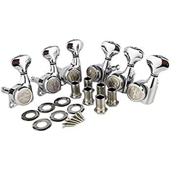 guyker 6pcs guitar machine heads 6 left handed locking string tuning key pegs. Black Bedroom Furniture Sets. Home Design Ideas