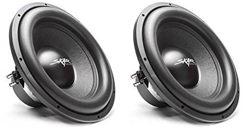 (2) Skar Audio SDR-15 D4 15″ 1200 Watt Max Power Dual 4 Ohm Car Subwoofer