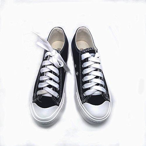 Anshoe 7 Colore Moda Donna Pizzo Scarpe Scarpa Classica Sneaker Colore Nero 9b (m) Noi