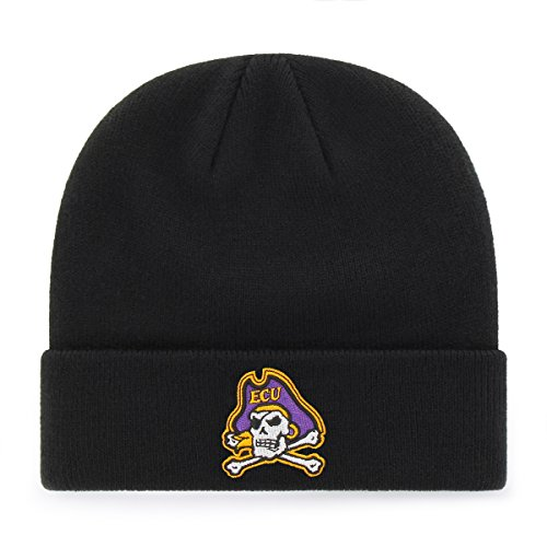 - OTS NCAA East Carolina Pirates Raised Cuff Knit Cap, Black, One Size