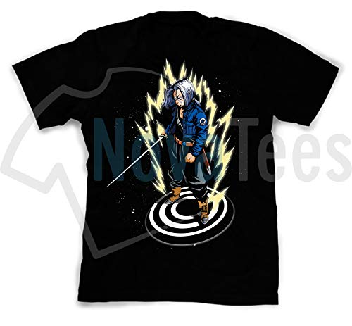 Dragon Silk Shirt (NovaTees Pop Culture Dragon Ball's Future Trunks Inspired Fan Art Custom Made Designed T-Shirts Tees; Size: Small)