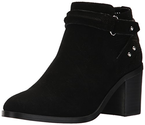 Steve Madden Women's Pati Ankle Boot, Black Suede, 6.5 M (Junior Suede Boot)