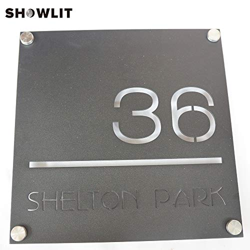 [해외]Home Wall Plates Black Color Stainless Steel Plates Fashion Style Cutomized Wall Signs Address Signs / Home Wall Plates Black Color Stainless Steel Plates Fashion Style Cutomized Wall Signs Address Signs