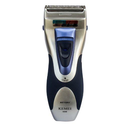 Ckeyin ® Wiederaufladbare   Waschbare   Herrenrasierer Titanium-X Dual Foil (mit Triple Shave Technologie) Rasierer