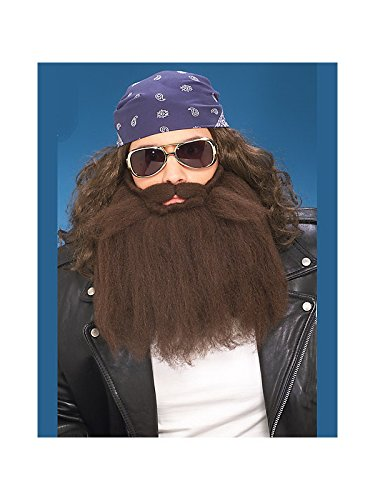 Forum Novelties Brown Biker Beard and Moustache