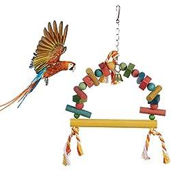 Pet Bird Parrot Parakeet Budgie Cockatiel Cage Hammock Swing Toy Hanging Toy