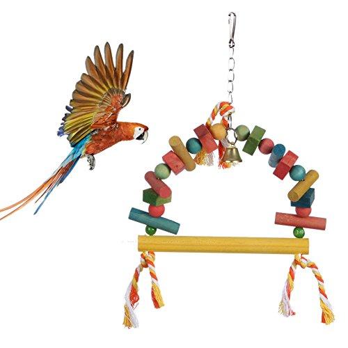 Pet Bird Parrot Parakeet Budgie Cockatiel Cage Hammock Swing Toy Hanging Toy (Budgie Swing)