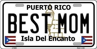 Rico Metal Puerto (Smart Blonde LP-6863 Best Mom Puerto Rico Metal Novelty License Plate)