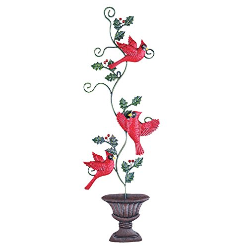 Collections Etc Cardinals Christmas Topiary Outdoor ()