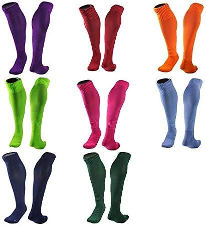Bigherdez Barreled Football Socks Long Towel Bottom Striped Knee Stockings Adult Soccer Sock Absorbent Sox Non Slip Movement Sox