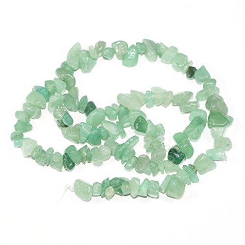 AAA Natural Green Aventurine Gemstones Smooth Chips Beads Free-form Loose Beads ~8x5mm beads for Jewelry Making (1 strand, ~16
