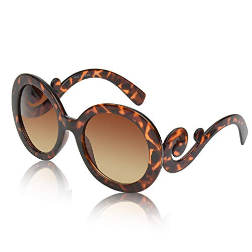 Womens Round Sunglasses For Woman Fake Glases Womans Oval Fashion Chic ()