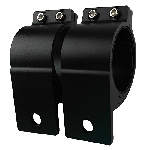 Audak 1 Pair 2.5 Inch Aluminum Mounting Bracket Tube Clamp for Bullbar Roof Rack Roll Cage (63.5-66mm/2.5-2.6 Inch - Mount Roll Anti Bar