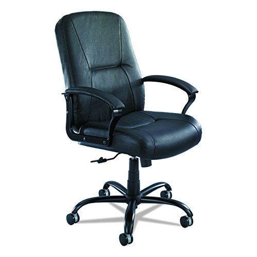 Safco Products 3500BL Serenity Big and Tall Leather High Back Chair, Black