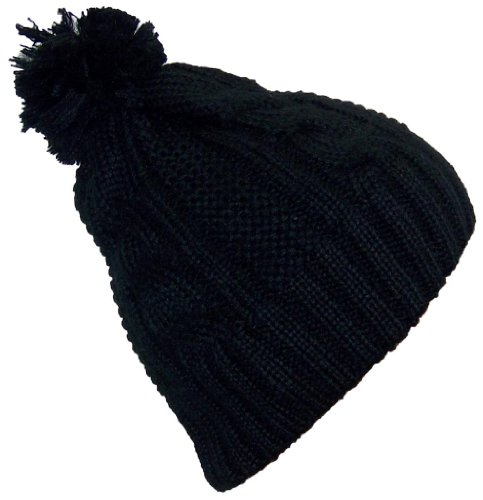 Best Winter Hats Women's Cable Knit Cuffless Winter Cap with 3 1/2