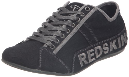 Redskins - Zapatillas de tela para hombre Negro
