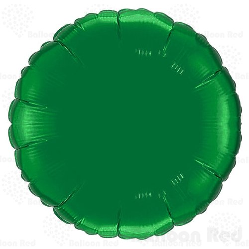 (18 Inch Helium Foil Mylar Balloons (Premium Quality), Pack of 6, Round - Green )