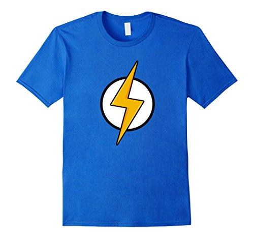 Mens Lightning Strike T-Shirt Flash Thunder Shock Large Royal (Strike Flash)