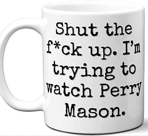 Perry Mason Gift Mug. Funny Parody TV Show Lover Fan