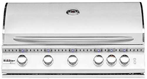 Summerset Sizzler Pro 40-inch 5-burner Built-in Natural Or Propane Gas Grill W/ Rear Infrared Burner - SIZPRO40-NG Or SIZPRO40-LP - W/ FREE Grill Cover From Premier Grilling (Natural Gas)
