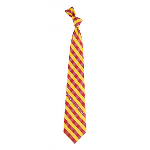 NFL Kansas City Chiefs Men's Woven Polyester Check Necktie, One Size, Multicolor