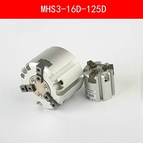 Fevas MHS3 16D 20D 25D 32D 40D 50D 63D 80D 100D 125D Parallel Style Air Gripper 3 Finger Double Action Rotating Cylinder Bore 16-125mm - (Color: MHS3 20D)