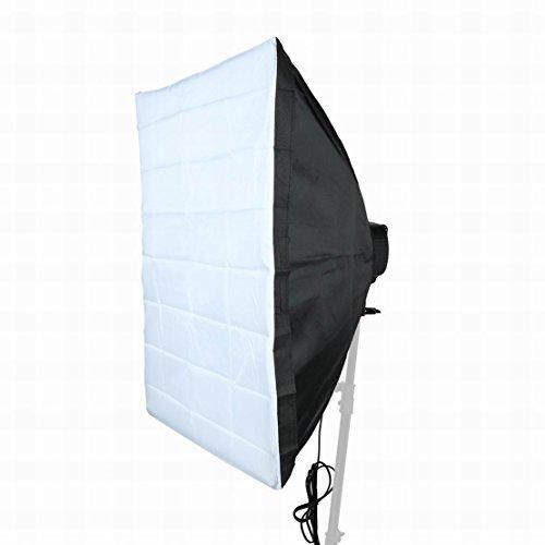 FemiaD Set Photography Equipment Kit 50cmx70cm Softbox with Five Lamp Bulb Holder 2Terminal US Plug