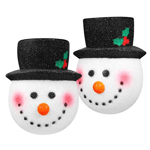 Amosfun 2PCS Christmas Porch Light Covers Christmas Outdoor Decoration Supply Snowman Light Covers Great for Standard Porch Light Decoration (Porch Cover Front)