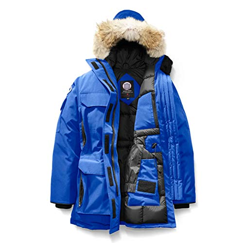 Winter Goose Down Women's Canada Expedition Blue Parka Coat(L) (Canadian Down & Feather Company Gel Microfibre Duvet)