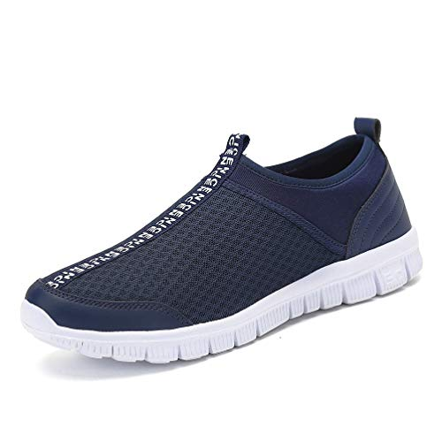 Slip Gym a De blue Lger Course Baskets On Pied Jindeng Hommes Dark Trainers Marche Sport Dcontractes Chaussures 8gqwX5papx