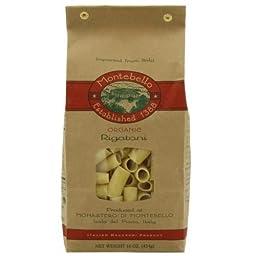 Montebello Organic Rigatoni Pasta, 1 Pound -- 12 per case.