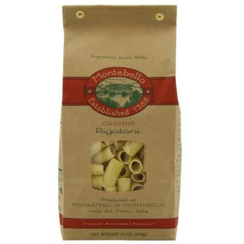 Montebello Organic Rigatoni Pasta, 1 Pound - 12 per case.
