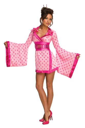 [Secret Wishes Women's Playboy Geisha Costume, Pink, Medium] (Sexy Geisha Costumes)