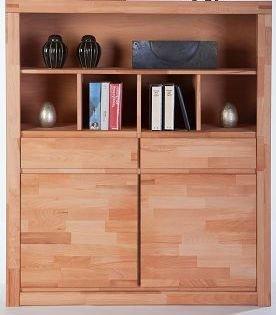 Wohnzimmer Kernbuche, Serie : Sylt (geölt, Highboard)