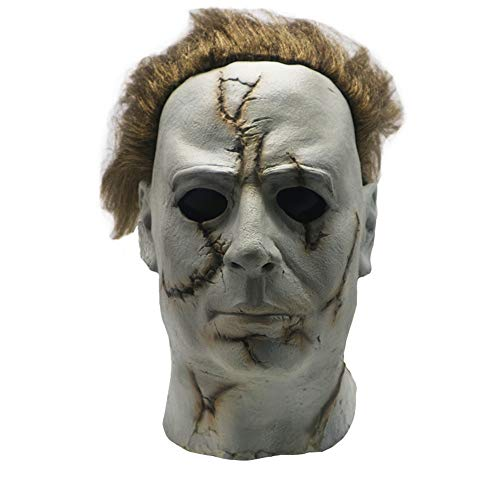 Lucky Lian Michael Myers Mask Halloween Horror Latex Cosplay Prop for Adult