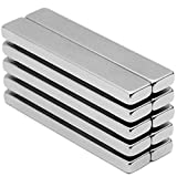 10 Piece Super Strong Rectangular Block Neodymium Magnets, DIY, Building, Scientific, Craft, and Office NdFeB Permanent Neodymium Magnets - 60 x 10 x 4 mm