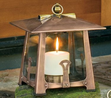 Potter Craftsman Candle Lantern Small