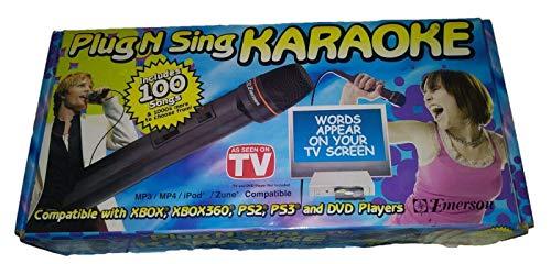 Emerson Plug N Sing Karaoke Includes 100 Songs ()